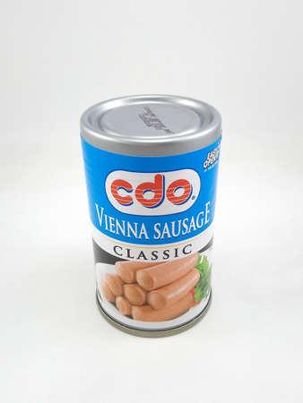 MANILLE, PH - AVR. 10: Canette de saucisse de Vienne Cdo le 10 avril 2020 à Manille, Philippines.