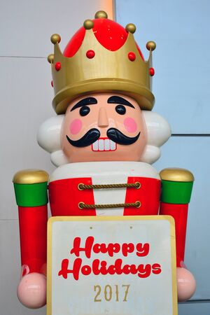 Christmas soldier nutcracker statue in Pasay, Philippines Stock Photo