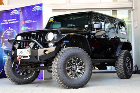 PASAY, PH - APR 1- Jeep wrangler at Manila International Auto Show on April 1, 2017 in Pasay, Philippines. Redakční
