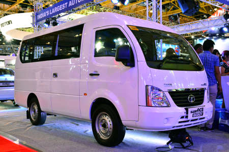PASAY, PH - APR 1- Tata super ace van at Manila International Auto Show on April 1, 2017 in Pasay, Philippines.