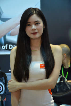 PASAY, PH - MAY 25 - Mio female model at 25th Trans Sport Car Show on May 25, 2019 in Pasay, Philippines.