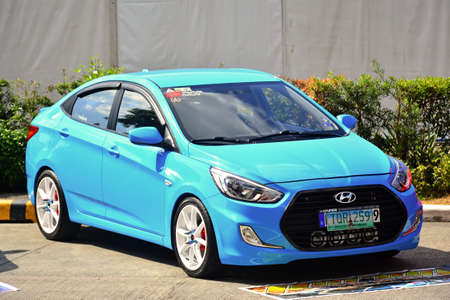 PASAY, PH - APRIL 7 - Hyundai accent at Manila International Auto Show on April 7, 2018 in Pasay, Philippines.