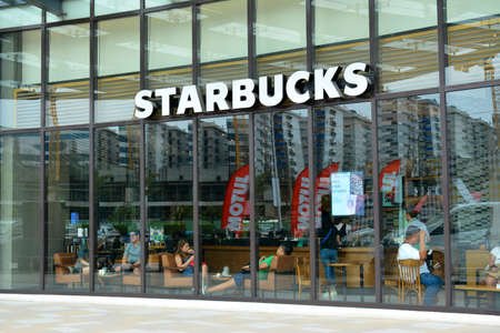 PASAY, PH - MAY 26 - Starbucks Coffee facade at Met Live mall on May 26, 2019 in Pasay, Philippines. Editorial