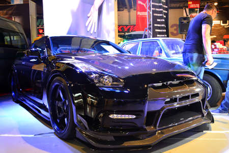 PASAY, PH - MAY 19 - Nissan 350z at Trans Sport Show on May 19, 2018 in Pasay, Philippines. Editoriali