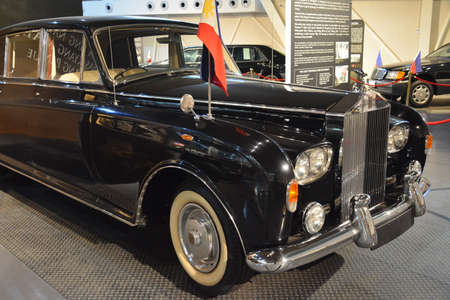 QUEZON CITY, PH - APR. 28: 1960 Rolls Royce Phantom V owned by Imelda Marcos display at Presidential Car Museum on April 28, 2019 in Quezon City, Philippines. Editorial