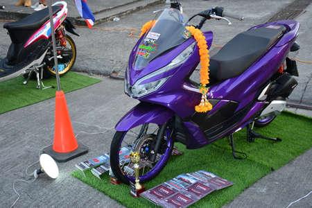 PASIG, PH - NOV 17 - Honda motorcycle at Vapin wheels car show on November 17, 2018 in Pasig, Philippines.
