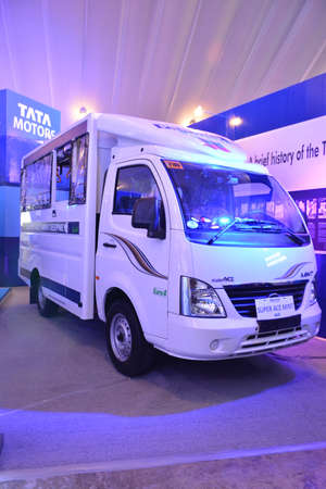 PASAY, PH - OCT 27 - Tata motors super ace mint van at Philippine International Motor Show on October 27, 2018 in Pasay, Philippines. Editoriali