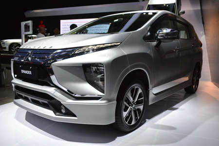 PASAY, PH - OCT 27 - Mitsubishi xpander at Philippine International Motor Show on October 27, 2018 in Pasay, Philippines. Editoriali