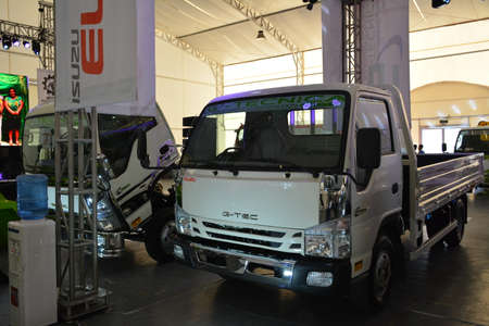 PASIG, PH - MAY 18 - Isuzu flat bed truck at 1st U Trip Rebuilt truck show on May 18, 2019 in Pasig, Philippines.