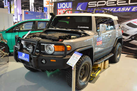 PASAY, PH - MAY 25 - Toyota fj cruiser at 25th Trans Sport Show on May 25, 2019 in Pasay, Philippines.