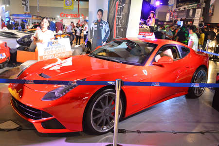 PASAY, PH - MAY 25 - Ferrari super car at 25th Trans Sport Show on May 25, 2019 in Pasay, Philippines.