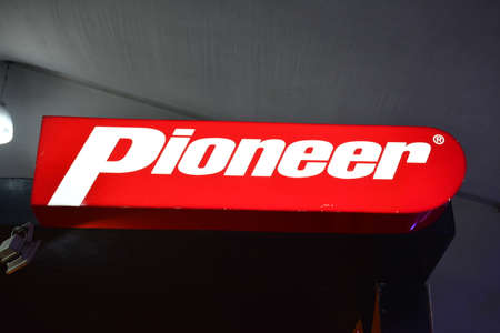 PASAY, PH - APR 7 - Pioneer sign at Manila International Auto Show on April 7, 2019 in Pasay, Philippines.