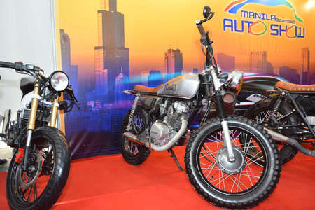 PASAY, PH - APR 7 - Honda motorcycle at Manila International Auto Show on April 7, 2019 in Pasay, Philippines. 新聞圖片
