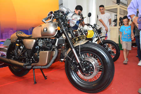PASAY, PH - APR 7 - Motorcycle at Manila International Auto Show on April 7, 2019 in Pasay, Philippines. 新聞圖片