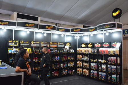 PASAY, PH - APR 7 - Meguiars car wax booth at Manila International Auto Show on April 7, 2019 in Pasay, Philippines.
