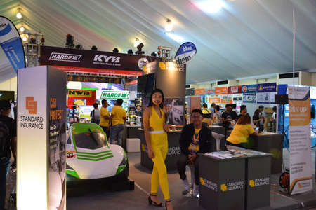 PASAY, PH - APR 7 - Standard insurance booth at Manila International Auto Show on April 7, 2019 in Pasay, Philippines.