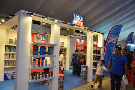 PASAY, PH - APR 7 - Liqui Moly booth and sign at Manila International Auto Show on April 7, 2019 in Pasay, Philippines.