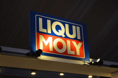 PASAY, PH - APR 7 - Liqui Moly sign at Manila International Auto Show on April 7, 2019 in Pasay, Philippines.