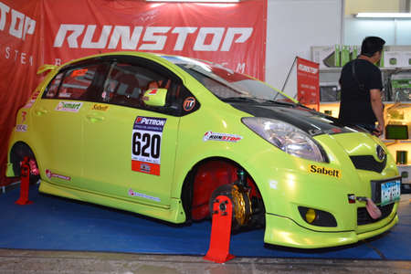 PASAY, PH - APR 7 - Toyota yaris at Manila International Auto Show on April 7, 2019 in Pasay, Philippines.