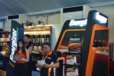 PASAY, PH - APR 7 - Energizer car battery booth at Manila International Auto Show on April 7, 2019 in Pasay, Philippines.