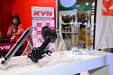PASAY, PH - APR 7 - KYB shock absorber at Manila International Auto Show on April 7, 2019 in Pasay, Philippines.