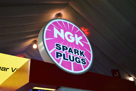 PASAY, PH - APR 7 - NGK spark plugs sign at Manila International Auto Show on April 7, 2019 in Pasay, Philippines.