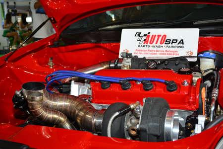 PASAY, PH - APR 7 - Honda civic motor engine at Manila International Auto Show on April 7, 2019 in Pasay, Philippines.