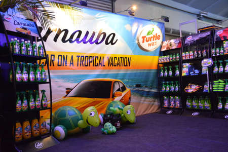 PASAY, PH - APR 7 - Turtle wax booth at Manila International Auto Show on April 7, 2019 in Pasay, Philippines.