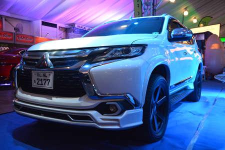 PASAY, PH - APR 7 - Mitsubishi montero suv at Manila International Auto Show on April 7, 2019 in Pasay, Philippines.