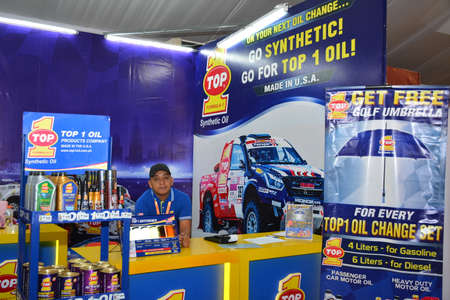 PASAY, PH - APR 7 - Top 1 synthetic oil booth at Manila International Auto Show on April 7, 2019 in Pasay, Philippines.