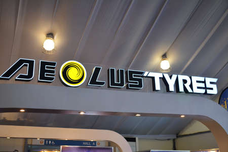 PASAY, PH - APR 7 - Aeolus tyres sign at Manila International Auto Show on April 7, 2019 in Pasay, Philippines.