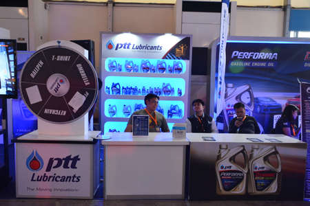 PASAY, PH - APR 7 - Ptt lubricants booth at Manila International Auto Show on April 7, 2019 in Pasay, Philippines.