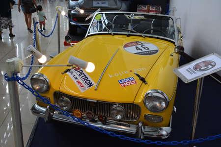 PASAY, PH - NOV 30 - Morris garages midget convertible at Manila Auto Salon car show on November 30, 2018 in Pasay, Philippines. Redakční