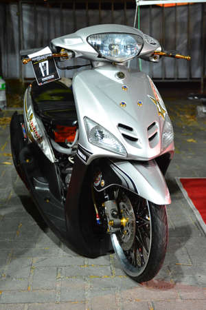 PASAY, PH - DEC 8 - Yamaha motorcycle at Bumper to Bumper car show on December 8, 2018 in Pasay, Philippines. Editorial