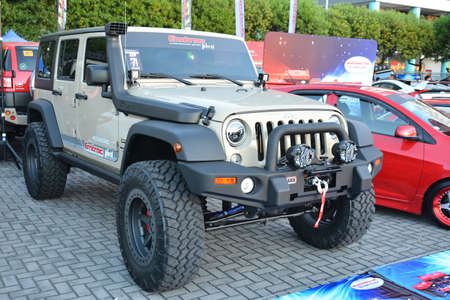 PASAY, PH - DEC 8 - Jeep wrangler at Bumper to Bumper car show on December 8, 2018 in Pasay, Philippines.