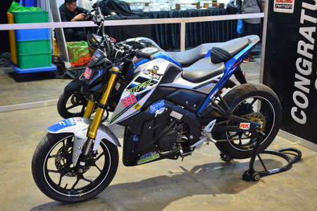 PASAY, PH - MAR 24 - Yamaha racing motorcycle at Inside Racing Motor Bike Festival and Trade Show on March 24, 2019 in Pasay, Philippines. Editorial