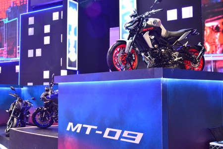 PASAY, PH - MAR 24 - Yamaha mt09 motorcycle at Inside Racing Motor Bike Festival and Trade Show on March 24, 2019 in Pasay, Philippines.