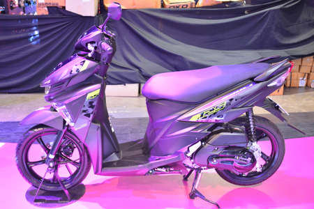 PASAY, PH - MAR 24 - Yamaha mio soul i125 motorcycle at Inside Racing Motor Bike Festival and Trade Show on March 24, 2019 in Pasay, Philippines. Publikacyjne