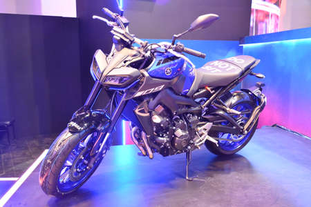 PASAY, PH - MAR 24 - Yamaha mt09 motorcycle at Inside Racing Motor Bike Festival and Trade Show on March 24, 2019 in Pasay, Philippines. Editorial