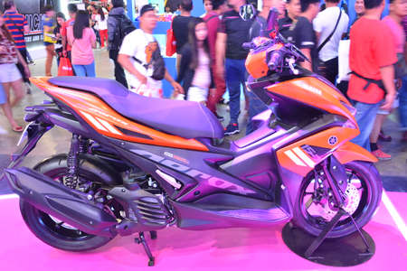PASAY, PH - MAR 24 - Yamaha mio aerox motorcycle at Inside Racing Motor Bike Festival and Trade Show on March 24, 2019 in Pasay, Philippines.