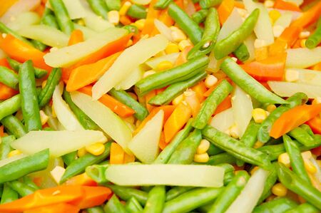 Mixed vegetables with beans, carrots, corn, and others