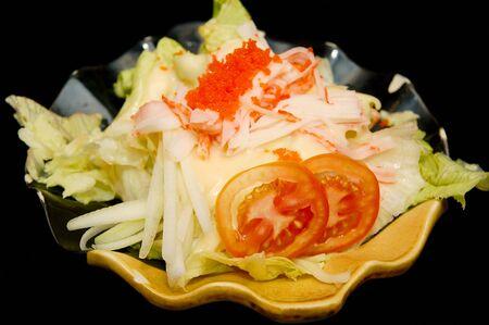 Kani salad Japanese raw vegetable mix food