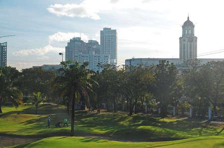 MANILA, PH - FEB 16 - Golf course at Intramuros on February 16, 2013 in Manila, Philippines. Redakční