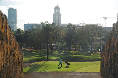 MANILA, PH - FEB 16 - Golf course at Intramuros on February 16, 2013 in Manila, Philippines.