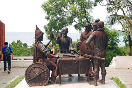 BOHOL, PH - SEPT 1 - Blood compact monument on September 1, 2015 in Bohol, Philippines Editorial