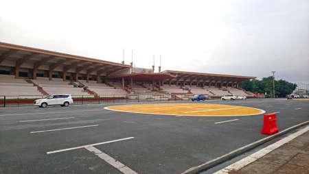 MANILA, PH - JAN 2 - Quirino grandstand on January 2, 2017 in Manila, Philippines. 新聞圖片