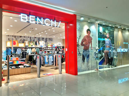 QUEZON CITY, PH - JUNE 3 - Bench clothing shop facade on June 3, 2018 in Quezon City, Philippines. Editorial