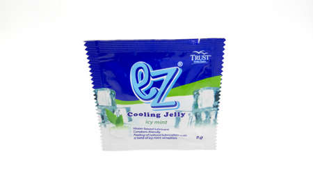 MANILA, PH - JUNE 23 - Ez cooling jelly icy mint lubricant on June 23, 2020 in Manila, Philippines.