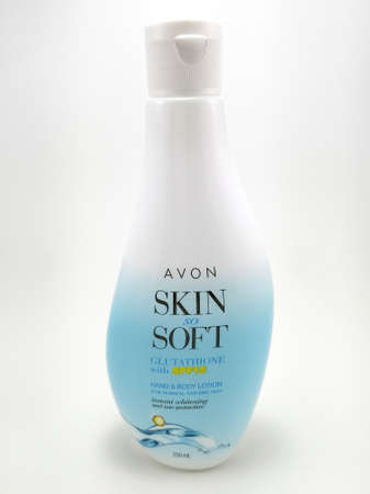 MANILA, PH - JUNE 23 - Avon skin so soft hand and body lotion on June 23, 2020 in Manila, Philippines. Editorial