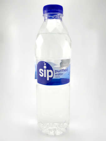 MANILA, PH - JUNE 23 - Sip purified water bottle on June 23, 2020 in Manila, Philippines. Editorial
